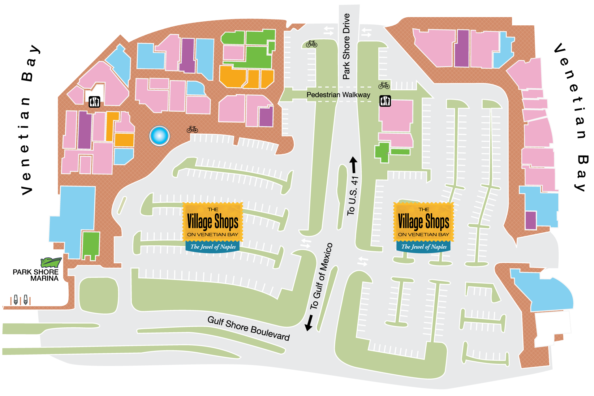 Map The Village Shops - Florida mall map