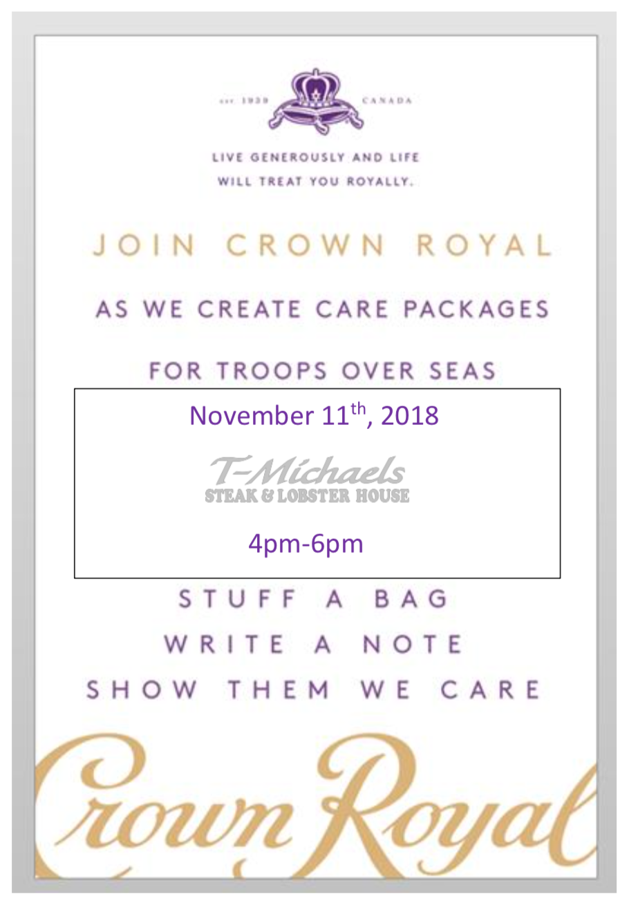 T-Michaels Steak and Lobster House Care Packages for Troops Event
