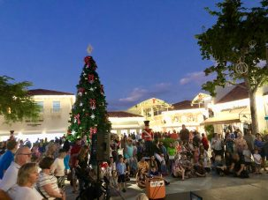 Grand Illuminations at The Village Shops on Venetian Bay