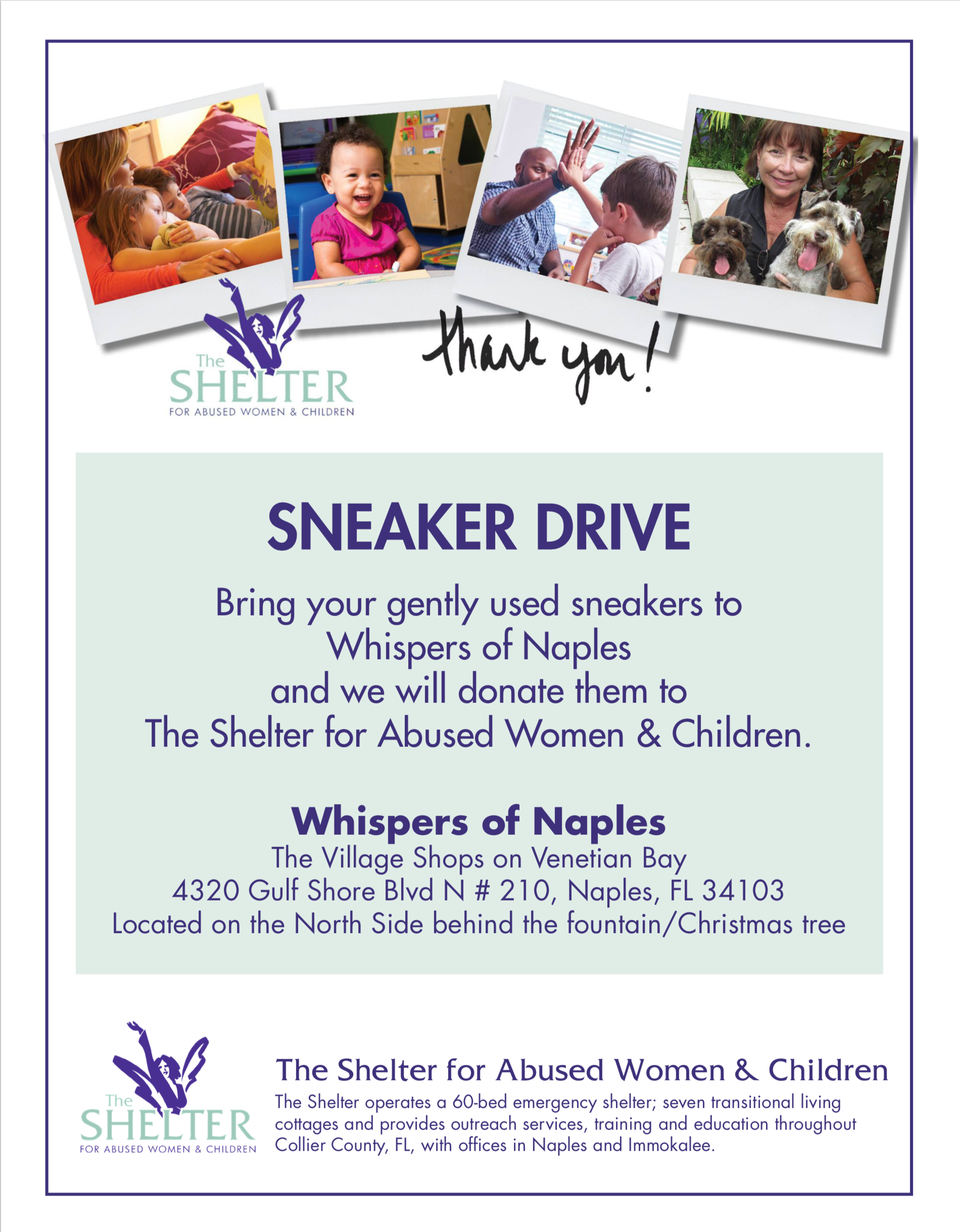 Whisper's of Naples Sneaker Drive