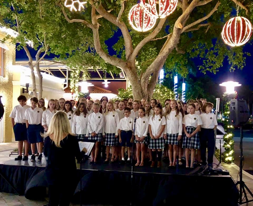 The Village School of Naples Choral Performance at The Village Shops!