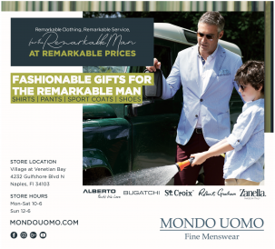 Mondo Uomo at The Village Shops, Waterfront Shopping Destination, Naples Florida Shopping