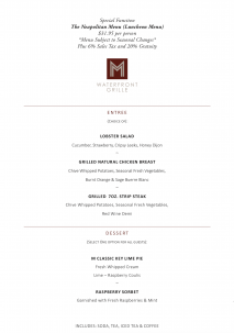 M Waterfront Grille's Neapolitan Menu