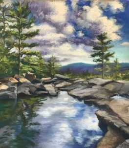 Patricia M. Gray Jackson Falls, Southwest Florida Pastel Society Pop-up Gallery at The Village Shops on Venetian Bay, Waterfront Shopping, Waterfront Art, Pastel Painting,