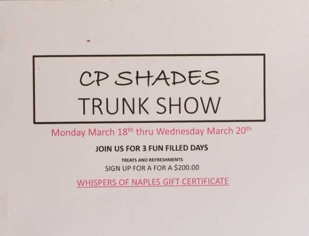 Whispers of Naples Trunk Show