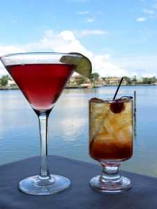 T-Michaels Steak & Lobster House, Cocktails, Naples Happy Hour, Waterfront Happy Hour